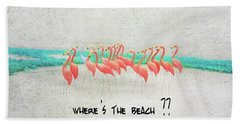 Flamingo Art I Bath Towel