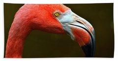 Flamingo Closeup Bath Towel