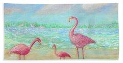 Flamingo Dreaming Bath Towel