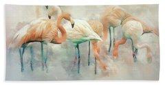 Bath Towel featuring the digital art Flamingo Fantasy by Brian Tarr