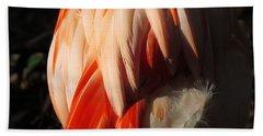 Flamingo Feathers Hand Towel
