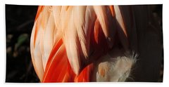 Flamingo Feathers Bath Towel