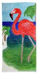 Flamingo Flash Bath Towel