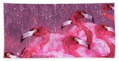 Flamingo Frenzy Bath Towel