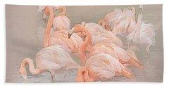 Flamingo Fun Hand Towel by Brian Tarr