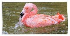 Flamingo Fun Hand Towel by Kathy White