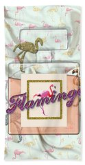 Flamingo Hand Towel by La Reve Design
