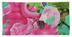 Flamingo Passion Bath Towel