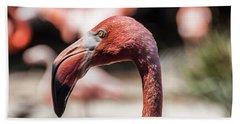 Flamingo Portrait Hand Towel