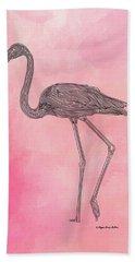 Flamingo3 Hand Towel by Megan Dirsa-DuBois