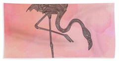 Flamingo4 Hand Towel