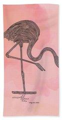 Flamingo4 Bath Towel