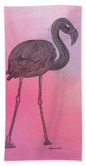 Flamingo5 Hand Towel by Megan Dirsa-DuBois