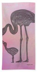 Flamingo6 Hand Towel by Megan Dirsa-DuBois