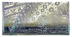 Flammarion Engraving Colored Bath Towel