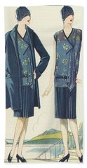 Flappers In Frocks And Coats, 1928  Hand Towel