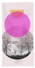 Flare In Pink And Yellow- Art By Linda Woods Hand Towel by Linda Woods