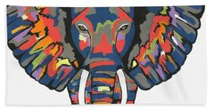 Flashy Elephant Bath Towel by Kathleen Sartoris