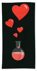 Flask Of Hearts Hand Towel