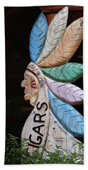 Hand Towel featuring the photograph Flat Cigar Store Indian by Art Block Collections