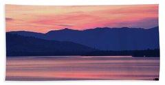 Flathead Lake At Sunrise Hand Towel