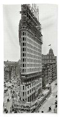 Flatiron Building Construction 1902 Hand Towel