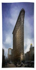 Flatiron Building Hand Towel by Marvin Spates
