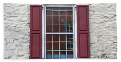 Hand Towel featuring the photograph Flemington, Nj - Side Shop Window by Frank Romeo