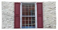 Bath Towel featuring the photograph Flemington, Nj - Side Shop Window by Frank Romeo