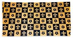 Fleur De Lis Floor Hand Towel by Eric Tressler