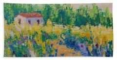 Fleurs Sauvage De Provence Bath Towel