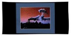Flight 175 Mushroom Cloud Framed Example Bath Towel by James Kosior