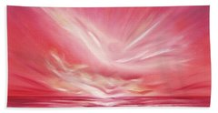 Flight At Sunset Bath Towel