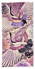 Flight Of Lovers - Kimono Series Bath Towel by Susan Maxwell Schmidt