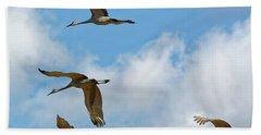Flight Of The Cranes Hand Towel