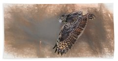 Flight Of The Eagle Owl Bath Towel