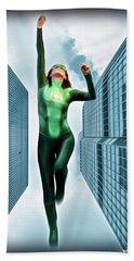 Flight Of The Green Lantern Bath Towel