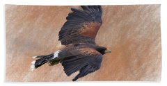 Flight Of The Harris Hawk Bath Towel