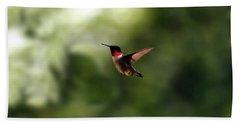 Flight Of The Hummingbird Bath Towel