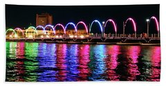 Bath Towel featuring the photograph Floating Bridge, Willemstad, Curacao by Kurt Van Wagner