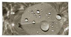 Floating Droplets Hand Towel