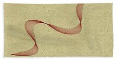 Floating Maroon Abstract Bath Towel
