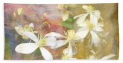 Floating Petals Hand Towel by Colleen Taylor