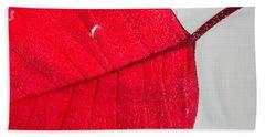 Floating Red Leaf Hand Towel