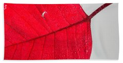 Floating Red Leaf Bath Towel