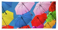 Floating Umbrellas Bath Towel