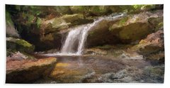 Flooded Waterfall In The Forest Bath Towel