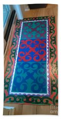 Floor Cloth Arabesque Bath Towel by Judith Espinoza