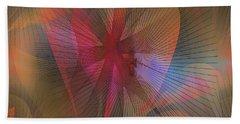 Hand Towel featuring the digital art Floral #3 by Iris Gelbart