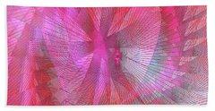 Hand Towel featuring the digital art Floral #4 by Iris Gelbart